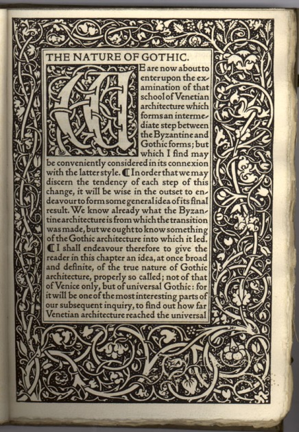 Kelmscott_Press_-_The_Nature_of_Gothic_by_John_Ruskin_(first_page)